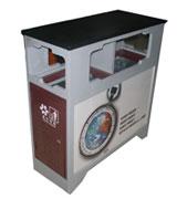【环畅品牌】立式四口分类广告垃圾桶 HC7004