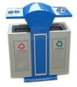 【环畅品牌】顶投口方形带盖烟灰钢制垃圾桶 HC2218