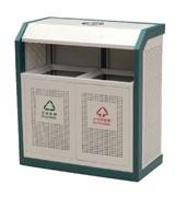 侧投口烟灰钢制分类垃圾桶 HC2220,侧投口钢制垃圾桶,烟灰钢制垃圾桶,方形钢制垃圾桶