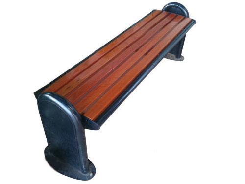 铸铁脚公园 园林休闲椅 HCY013 公园休闲椅,园林休闲椅,防腐木休闲椅,无靠背休闲椅