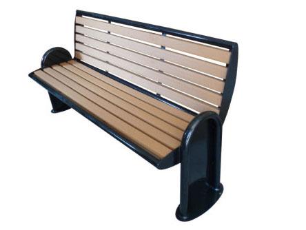 铸铁支架靠背公园 园林休闲椅 HCY048 公园休闲椅,园林休闲椅,防腐木休闲椅,靠背休闲椅