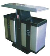 顶投口方形烟灰钢制垃圾桶 HC2237,顶投口钢制垃圾桶,烟灰钢制垃圾桶,钢制分类垃圾桶