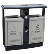 烟灰盅顶投口方形钢制垃圾桶 HC2239,烟灰盅钢制垃圾桶,顶投口钢制垃圾桶,钢制分类垃圾桶