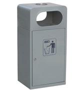 带烟缸钢制方形垃圾桶 HC2025,钢制垃圾桶,单筒垃圾桶,烟灰盅垃圾桶,方形垃圾桶,方形垃圾桶