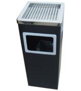 侧投口烟灰缸室内垃圾桶 HC6031,室内垃圾桶,酒店用垃圾桶,烟灰缸垃圾桶,黑色钛金垃圾桶