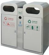 顶部敞口不锈钢分类垃圾桶 HC1003,不锈钢垃圾桶,分类垃圾桶,不锈钢分类垃圾桶