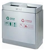 机场定制不锈钢分类垃圾桶 HC1009