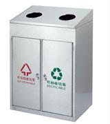 小区单位常用不锈钢分类垃圾桶 HC1007,不锈钢垃圾桶,分类垃圾桶,不锈钢分类垃圾桶