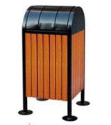 上投口带盖钢木垃圾桶单桶 HC3023,上投口钢木垃圾桶,钢木垃圾桶单桶,带盖钢木垃圾桶