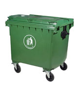 660L塑料垃圾箱 大容量长方形带轮子垃圾桶 HC4004,翻盖塑料垃圾桶,方形塑料垃圾桶,轮轴塑料垃圾桶