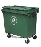 660L脚踏方形塑料垃圾桶 HC4005,手提式塑料垃圾桶,方形塑料垃圾桶,翻盖塑料垃圾桶,蓝色塑料垃圾桶