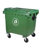 1100L带盖方形防臭塑料垃圾桶 HC4006,带盖塑料垃圾桶,防臭塑料垃圾桶,轮轴塑料垃圾桶
