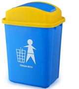 30L弹盖塑料垃圾桶 HC4022,塑料垃圾桶,垃圾收集桶,小区用垃圾桶,大容积垃圾桶