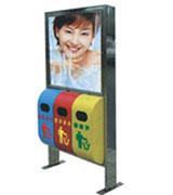 三级分类广告垃圾桶 HC7017,三级分类垃圾桶,分类垃圾桶,户外广告垃圾桶,大屏广告垃圾桶