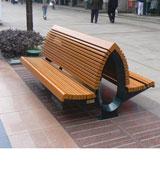 双排靠背休闲椅 户外园林休闲椅 HCY055,休闲椅,木条椅,双排靠背椅