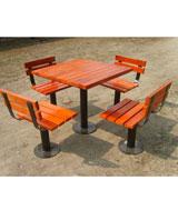 带桌子公园 园林休闲椅 HCY004,公园休闲椅,园林休闲椅,防腐木休闲椅,带桌子休闲椅