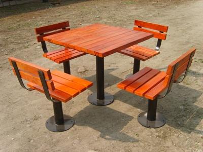 带桌子公园 园林休闲椅 HCY004 公园休闲椅,园林休闲椅,防腐木休闲椅,带桌子休闲椅