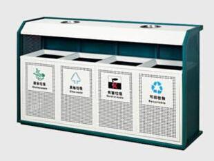 四分类钢制垃圾桶 HC2013,钢制垃圾桶,单筒垃圾桶,大理石垃圾桶