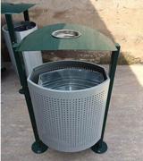 双脚站立钢制垃圾桶 HC2006,钢制垃圾桶,单筒垃圾桶,烟灰盅垃圾桶