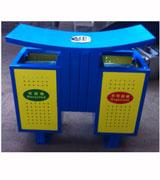 翼形带烟灰缸孔钢制分类垃圾桶 HC2247,圆弧顶钢制垃圾桶,冲桩孔钢制垃圾桶,钢制分类垃圾桶