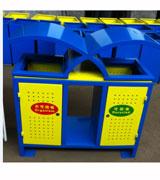 带盖户外分类钢制垃圾桶 HC2245,带盖钢制垃圾桶,冲孔钢制垃圾桶,钢制分类垃圾桶