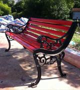 狮子头公园休闲椅 园林休闲椅 HCY035,公园休闲椅,园林休闲椅,防腐木休闲椅,靠背休闲椅