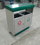HC2207 带盖钢制垃圾桶,烟灰盅钢制垃圾桶,坐地式钢制垃圾桶