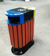 钢制木条分类垃圾桶 HC3201