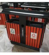HC3222 钢木垃圾桶,分类垃圾桶,户外垃圾桶,木条垃圾桶,木条分类垃圾桶