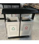 顶投口坐地式透气孔钢制垃圾桶 HC2205,顶投口钢制垃圾桶,坐地式钢制垃圾桶,钢制分类垃圾桶
