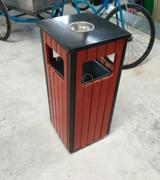 【环畅品牌】带盖四投口钢木垃圾桶 HC3029