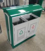 HC2222 顶投口钢制垃圾桶,方形钢制垃圾桶,冲桩孔钢制垃圾桶