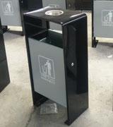 烟灰盅钢制垃圾桶 HC2028,钢制垃圾桶,单筒垃圾桶,烟灰盅垃圾桶
