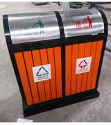 【环畅品牌】雨棚顶挡板钢木分类垃圾桶 HC3218