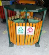 圆形钢木垃圾桶 HC3240,钢木垃圾桶,分类垃圾桶,木条垃圾桶,木条分类垃圾桶,圆形垃圾桶