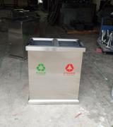 正方形分类不锈钢垃圾桶 HC1002,不锈钢垃圾桶,正方形不锈钢垃圾桶,上投口不锈钢垃圾桶,室内不锈钢垃圾桶