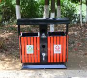 【环畅品牌】立式钢木分类垃圾桶 防腐木垃圾桶 四分类 HC3222