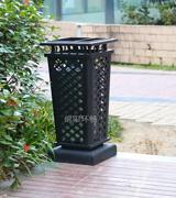 激光雕花古典艺术垃圾桶 HC2002,钢制垃圾桶,方形垃圾桶,仿古垃圾桶,艺术垃圾桶,带烟灰缸垃圾箱