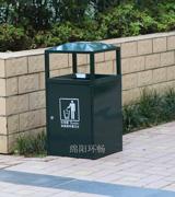 顶部烟灰缸钢制垃圾桶 HC2005,钢制垃圾桶,单筒垃圾桶,烟灰缸垃圾桶