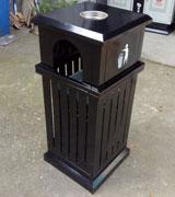 楼盘创意垃圾桶 HC2036,楼盘垃圾桶 创意果皮箱 园林垃圾箱