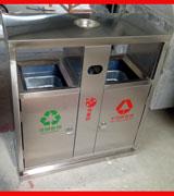 不锈钢分类垃圾桶 户外垃圾桶HC1026,不锈钢垃圾桶,户外垃圾桶,地铁站果皮箱,车站垃圾桶