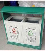 【环畅品牌】钢制垃圾桶 绿色框架垃圾箱 户外垃圾桶 HC2222