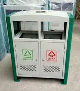双侧投口烟灰冲桩孔钢制垃圾桶 HC2231,双投口钢制垃圾桶,冲桩孔钢制垃圾桶,分类钢制垃圾桶