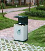 高档小区钢制垃圾桶 HC2026,高档钢制垃圾桶,室内果皮箱,金属垃圾桶,侧投口垃圾桶