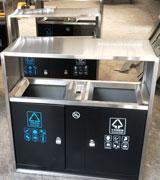 广场不锈钢分类垃圾桶 HC1202,不锈钢垃圾桶,定做不锈钢垃圾箱,不锈钢垃圾桶厂家
