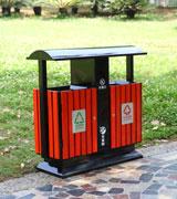 立式钢木分类垃圾桶 防腐木垃圾桶 四分类 HC3222,钢木垃圾桶,分类垃圾桶,户外垃圾桶,木条垃圾桶,木条分类垃圾桶,景区垃圾桶,公园垃圾桶,小区垃圾桶
