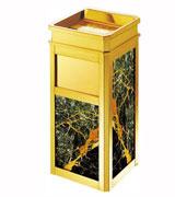 钝角侧投方形大理石座地烟灰桶 HC5003,钝角靠墙大理石垃圾桶,大理石烟灰桶,石米大理石垃圾桶