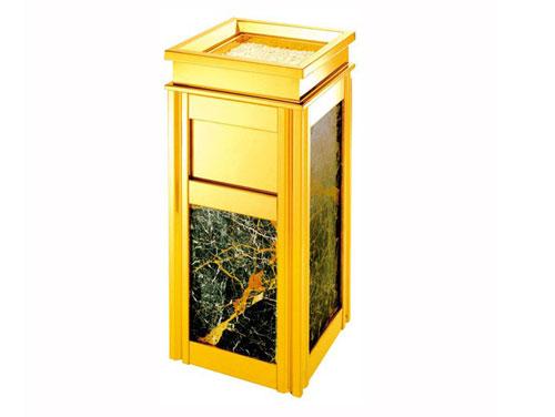 酒店垃圾桶 医院垃圾桶 大厅垃圾桶 公共大厅垃圾桶 钛金色大理石垃圾桶