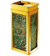 钝角顶投方形大理石烟灰桶 HC5006,钝角大理石垃圾桶,顶投口钛金板垃圾桶,座地烟灰桶,大理石座地垃圾桶