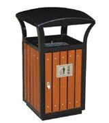 带天窗顶盖钢木垃圾桶 HC3008